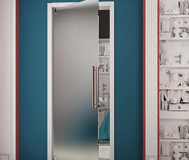 Цельностеклянное дверное полотно JR